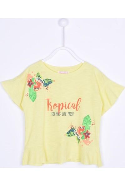 Silversun Kız Çocuk Kısa Kollu Baskılı T-Shirt BK 211700