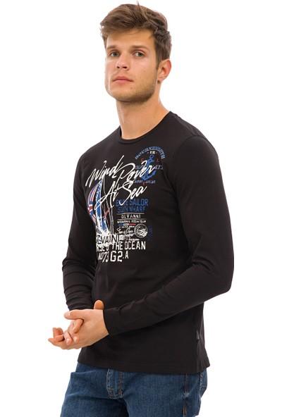 Galvanni Erkek Siyah Sweatshirt Uzun Kol - Albans