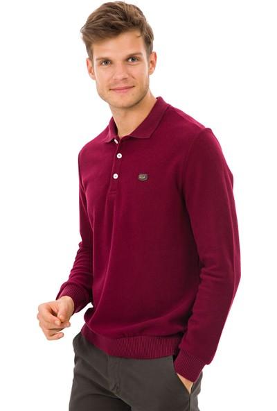 Galvanni Erkek Kırmızı Polo Yaka Sweatshirt - Birmingham