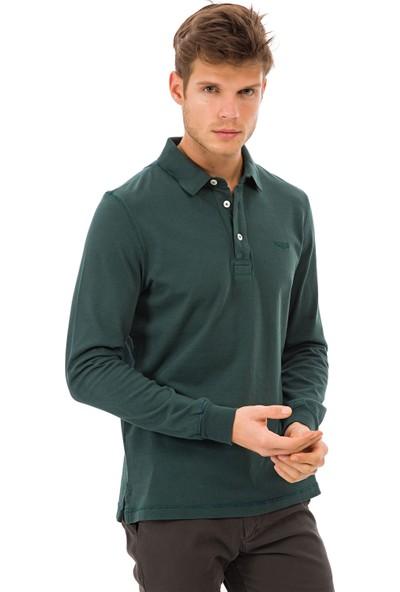 Galvanni Erkek Yeşil Polo Yaka Sweatshirt - Launceston