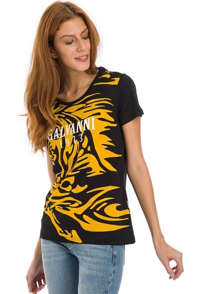 Galvanni Kadın Siyah T-Shirt - Loze