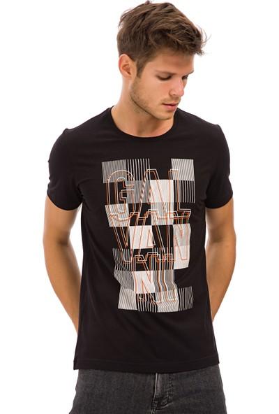 Galvanni Erkek Siyah T-Shirt - Lufo