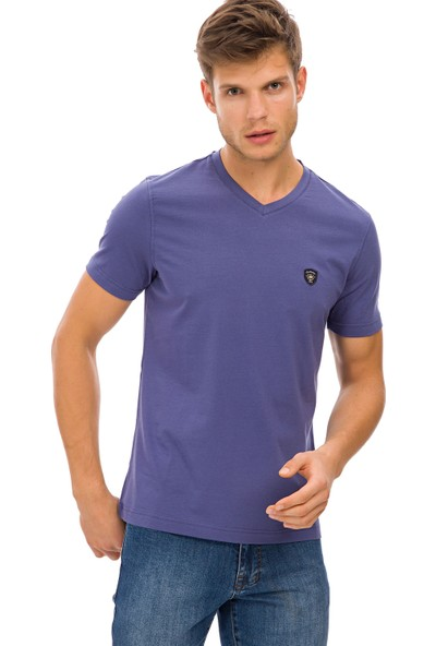 Galvanni Erkek İndigo T-Shirt - Prim