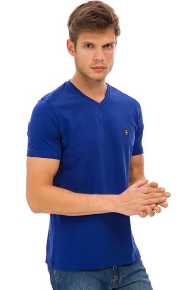 Galvanni Erkek Saks T-Shirt - Prim
