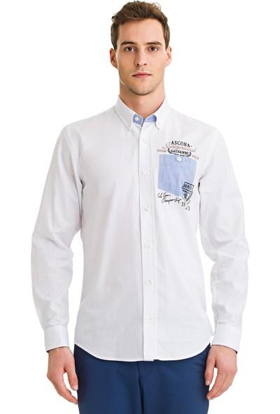 Galvanni Erkek Slim Fit Beyaz Gömlek - Surprise