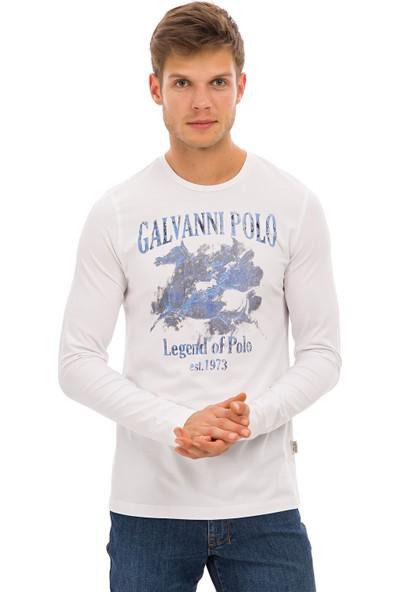 Galvanni Erkek Beyaz Sweatshirt Uzun Kol - Truro