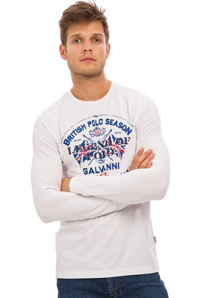 Galvanni Erkek Beyaz Sweatshirt Uzun Kol - Wakefield