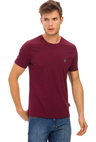 Galvanni Erkek Bordo T-Shirt - Wawe