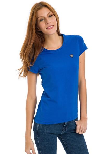 Galvanni Kadın Saks T-Shirt - Coventry