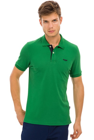 Galvanni Erkek Yeşil Polo Yaka T-Shirt - Groningen