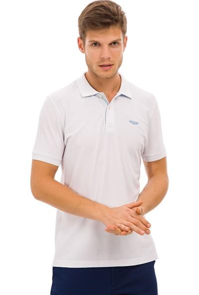 Galvanni Erkek Beyaz Polo Yaka T-Shirt - Groningen