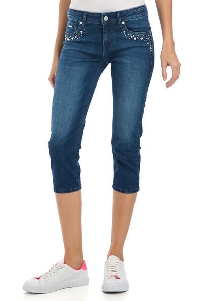 Galvanni Kadın Regular Fit Lacivert Pantolon - Rod