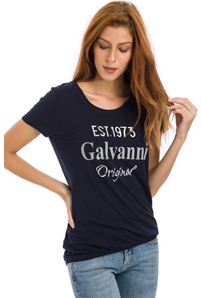 Galvanni Kadın Lacivert T-Shirt - Win