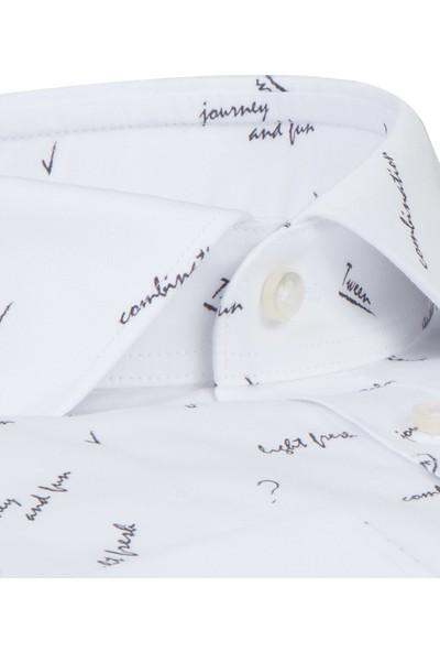 Damat/Tween Slim Fit Beyaz Gömlek