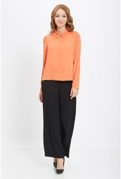 Nihan Basic Gömlek- Oranj X5063
