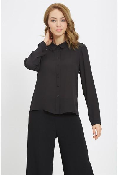 Nihan Basic Gömlek- Siyah X5063