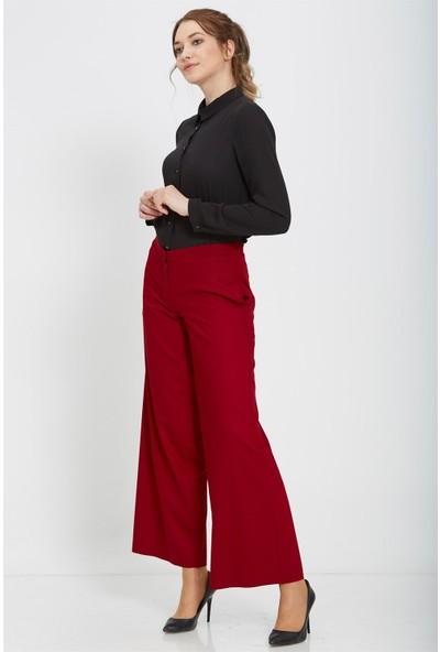 Nihan Bolpaça Pantolon-Bordo X4141
