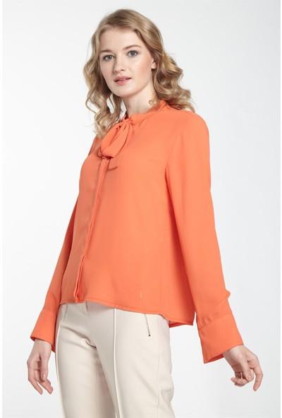 Nihan Gömlek-Oranj X5061