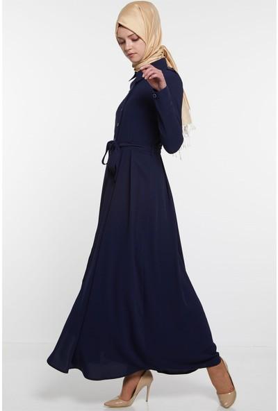 Nihan Elbise-Lacivert X5231