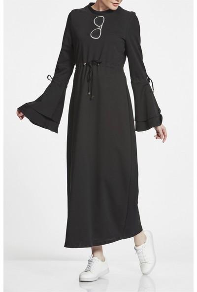 Nihan Tesettür Elbise - Siyah