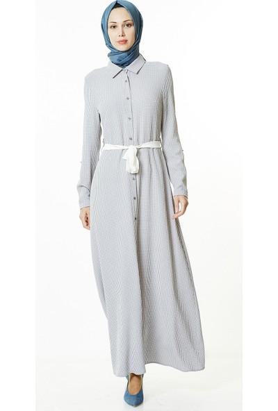 Nihan Pötikare Elbise-Gri J4680