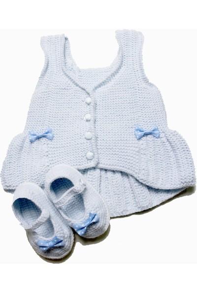 HL Organik Bebek Örgü Yelek ve Patik