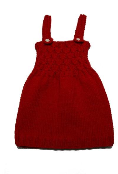 HL Organik Kız Bebek Örgü Elbise