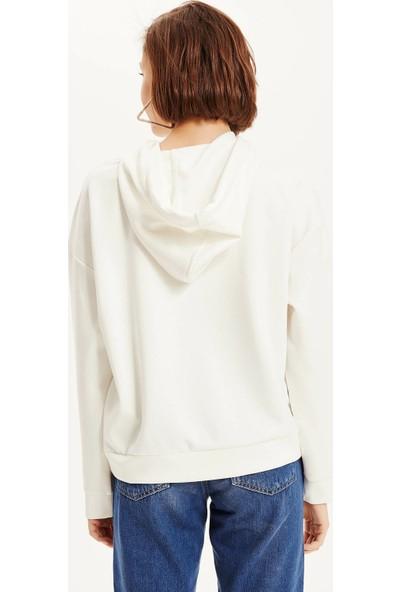 Defacto Kadın Scuba Kapşüonlu Sweatshirt