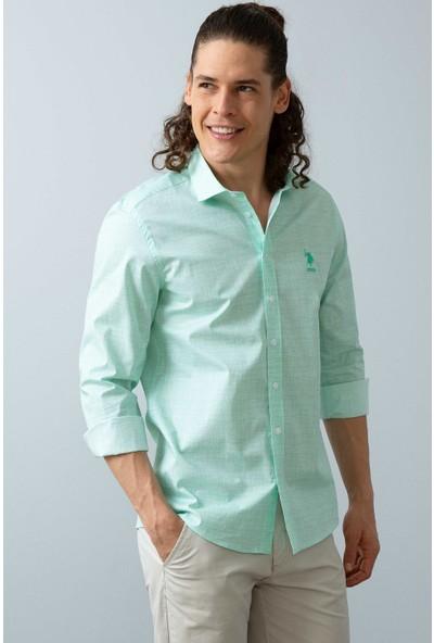 U.S. Polo Assn. Erkek Dokuma Gömlek 50199828-VR090