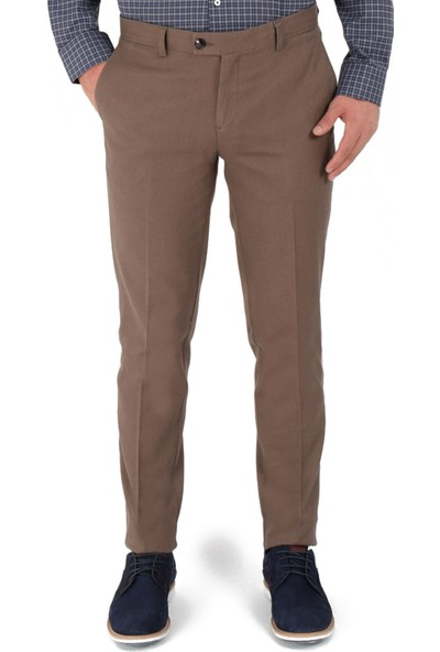 Morven Erkek Virtual Slim Fit Pantolon Bej