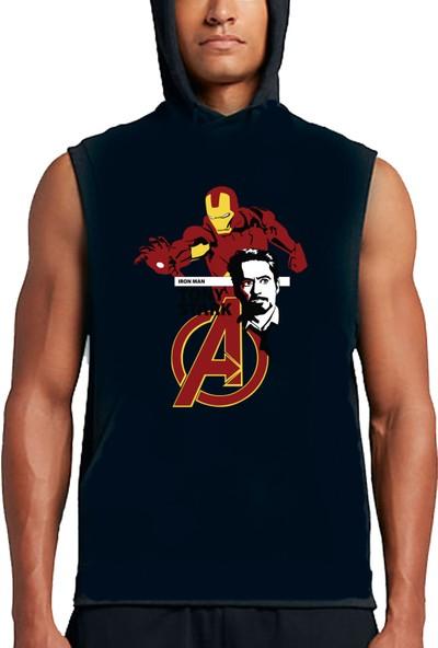 Art T-shirt Tony Stark Unisex Sleeveless Hoodies Sweatshirt