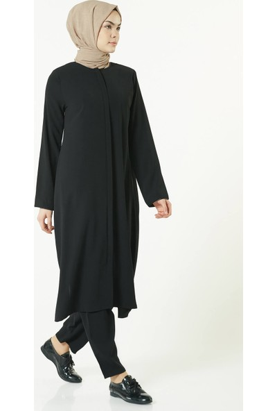 İsra Lüx İkili Takım Hac Umre Kıyafeti Siyah