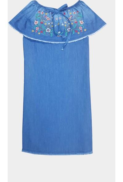 Coten Concept Kadın Nakış İşlemeli Tensel Elbise