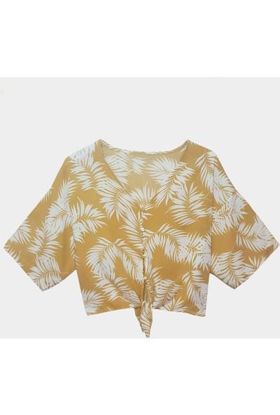 Coten Concept Kadın Önden Bağlamalı Desenli Gömlek