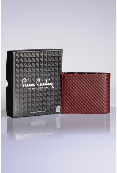 Pierre Cardin Erkek Hakiki Deri Cüzdan 3Pccz2243İ Bordo Logolu