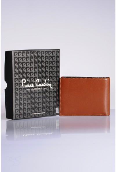 Pierre Cardin Erkek Hakiki Deri Cüzdan 3Pccz3233 Taba Logolu