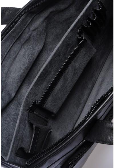 Grande Unisex Hakiki Deri Evrak Çantası Grercnt4063 Siyah