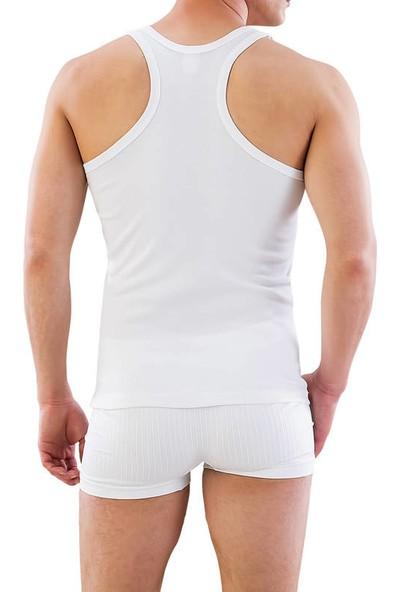 Emay Beyaz Fit Kalıp Sporcu Atlet 12320