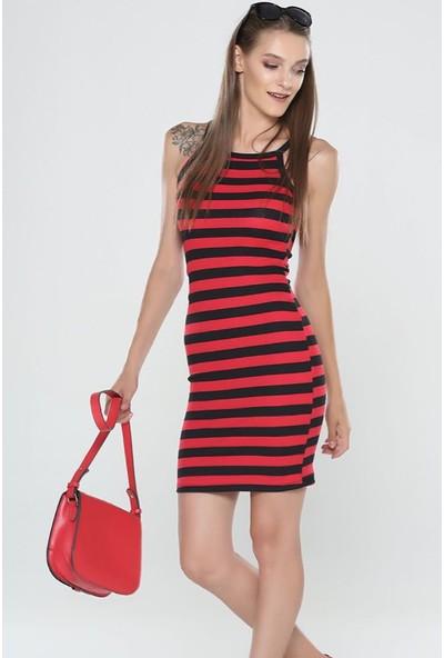 Graffin Kadın 201620 Kırmızı - Siyah Elbise