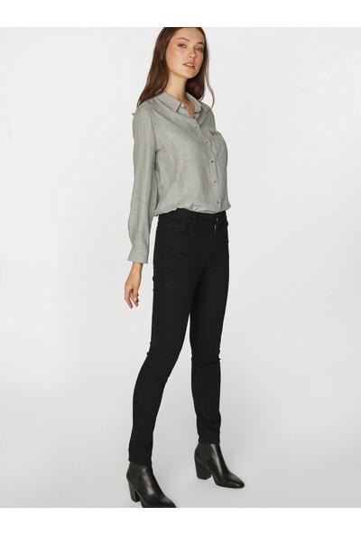 Faik Sönmez Kadın Normal Bel Slim Fit Jean Pantolon 39035