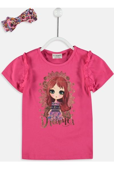 LC Waikiki Kız Çocuk T-Shirt Ve Saç Bandı