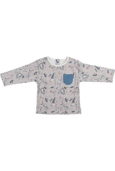 Auntie Me Gri Stardust Uzun Kollu T-Shirt