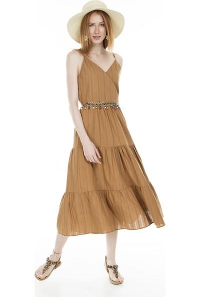 Lela Şerit Detaylı Elbise Kadın Elbise 23430963