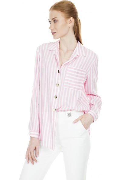 Lela Çizgili Kadın Gömlek 50378