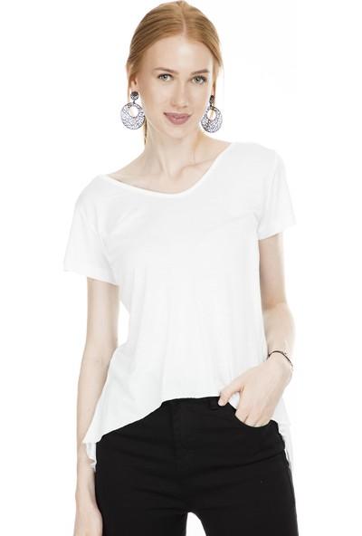 Lela Sırt Detaylı Baskılı Kadın T-Shirt 51917073