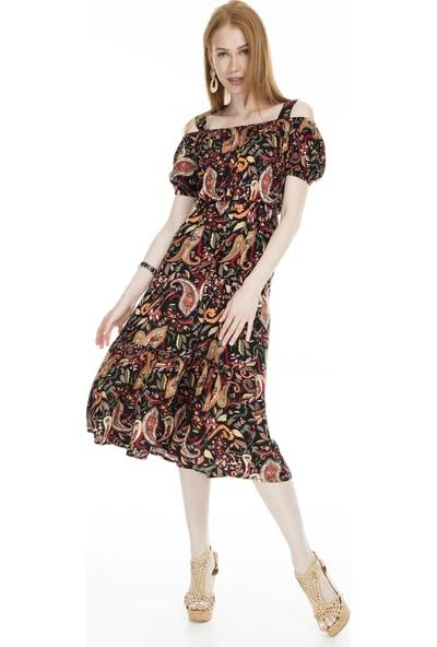 Lela Eteği Volenli Kadın Elbise 5202215A