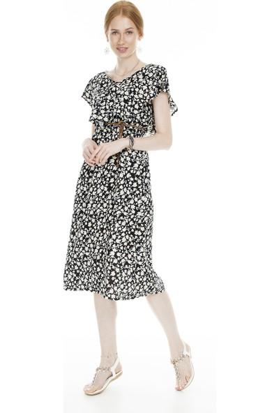 Lela Desenli Midi Kadın Elbise 5202737