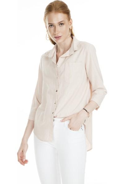 Lela Tek Cepli Kadın Gömlek MK19S162056