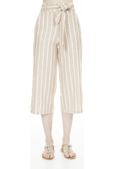 Lela Çizgili Bermuda Pantolon Kadın Bermuda Mk19S662557