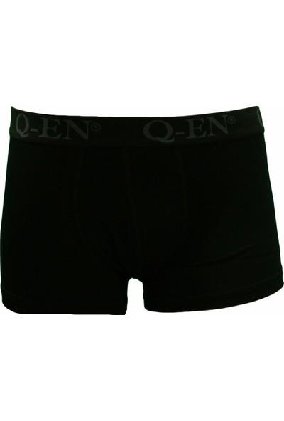 Q-En Bambu Erkek Boxer Külot 500 Siyah